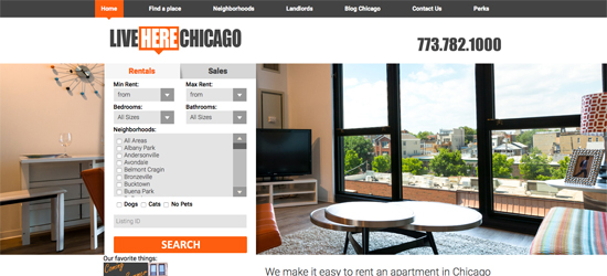 Work Performed:<br />Web Design + Mobile Site<br />Custom PHP CMS<br />XML API Feed Integration<a class='view-btn' href='http://www.liveherechicago.com/' target='_blank' rel='nofollow'>» view website</a>